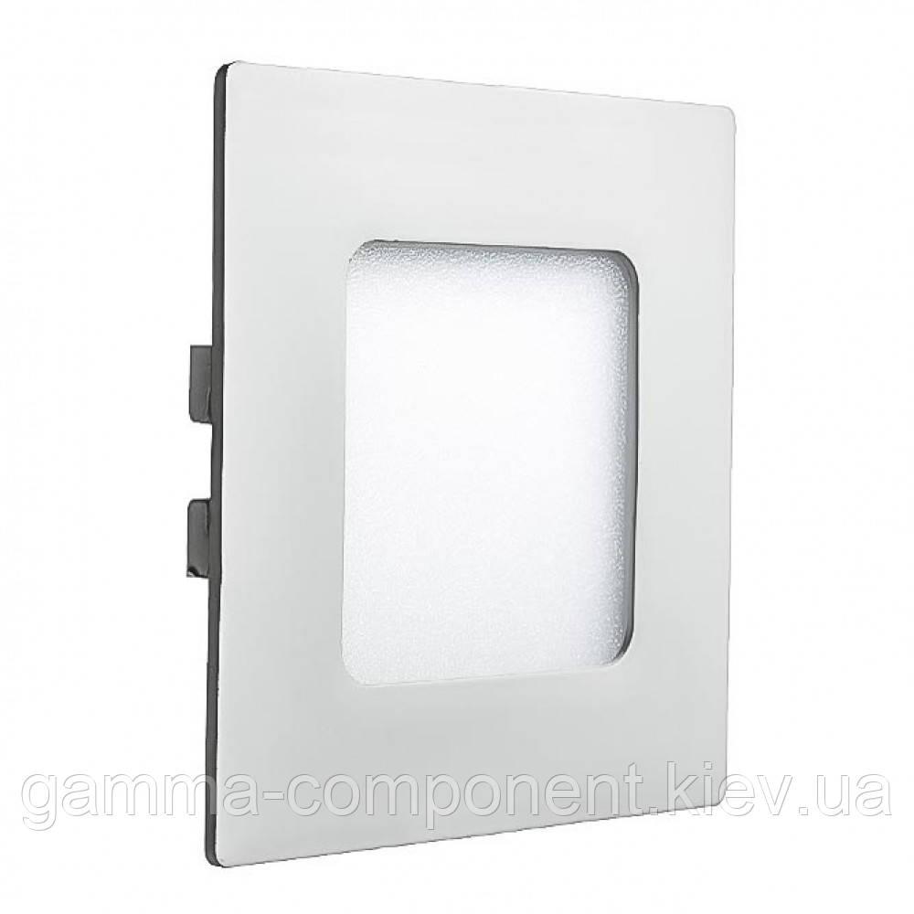Светодиодный светильник точечный 3Вт, квадрат, белый, IP20