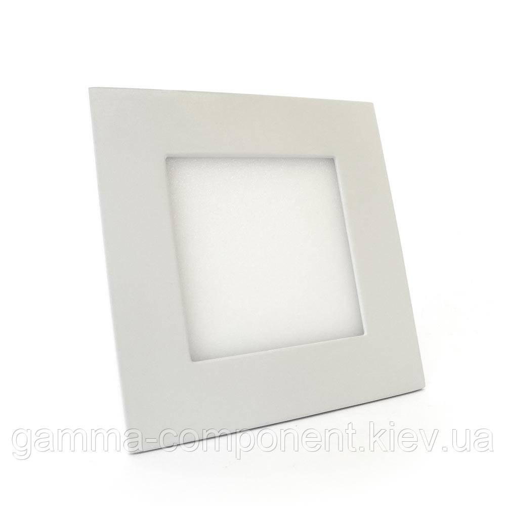 Светодиодный светильник точечный 6Вт квадрат, белый, IP20