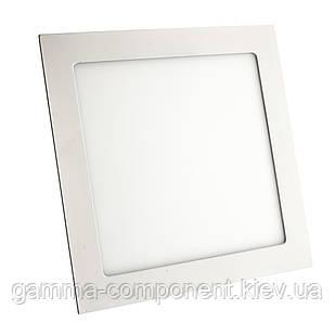 Светодиодный светильник точечный 18Вт, квадрат, белый, IP20