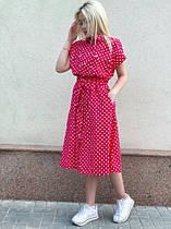 Женское летнее платье в горошек новинка 2021