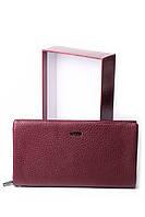 Жіночий бордовий гаманець Cardinal великий клатч з натуральної шкіри портмоне, фото 4