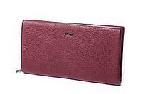 Жіночий бордовий гаманець Cardinal великий клатч з натуральної шкіри портмоне, фото 3