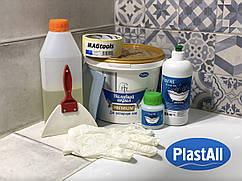Жидкий акрил Plastall Premium 1.7 м с набором для реставрации ванн душевых поддонов и раковин Оригинал