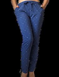 Жіночі брюки Elegance EL17 44 сині