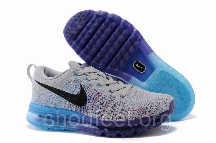 Мужские кроссовки Nike Air Max 2014 Flyknit Grey/Blue/Purple