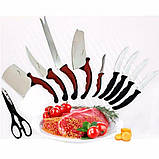 Набір ножів кухонних Contour Pro Knives Контур про + магнітна рейка 10 предметів Original, фото 4