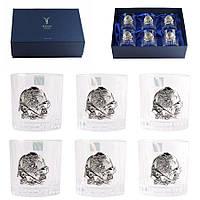 Набор хрустальных бокалов Boss Crystal «БОКАЛЫ ГЕНЕРАЛЬСКИЕ», 6 бокалов, серебро, фото 1