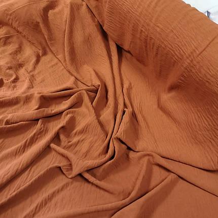Ткань американский креп терракотовый, фото 2