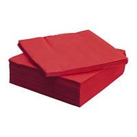 ФАНТАСТИСК Салфетка бумажная, красный 40x40 см