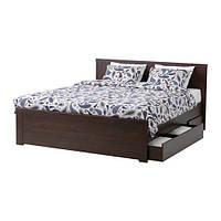 БРУСАЛИ Каркас кровати с 4 ящиками  160x200 см
