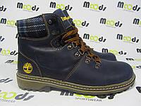 Женские ботинки Timberland натуральная кожа, синие Р. 39