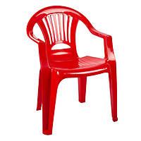 Крісло пластикове «Промінь», червоний