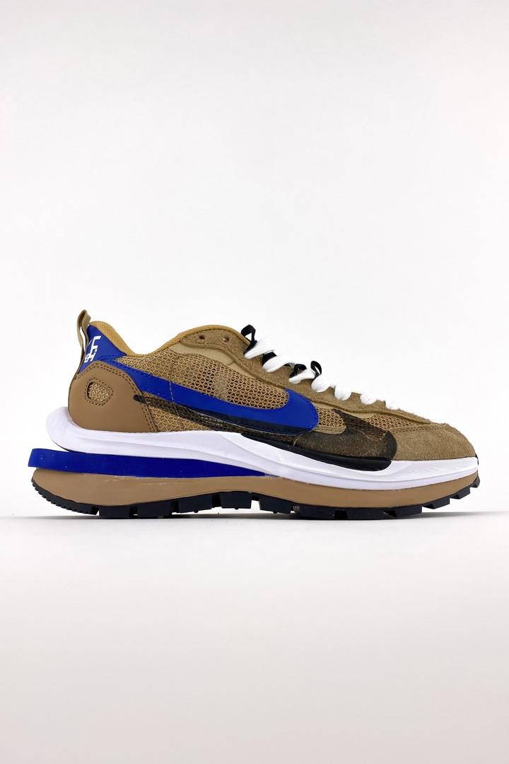 Nike Sacai чоловічі літні коричневі кросівки на шнурках. Літні чоловічі текстильні кроси