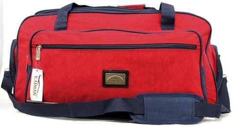 Міцна та надійна дорожня сумка червона KM4808C  70 см