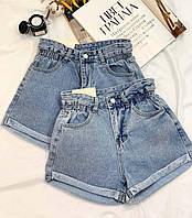 Жіночі шорти джинсові на високій посадці, фото 1