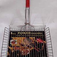 Решітка гриль велика для барбекю POWER 42х30х6 L 67 см