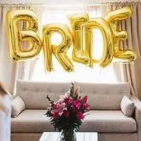 "Напис фольгована ""BRIDE"" висота до 1 метр Золото"