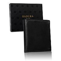 Чоловічий шкіряний гаманець Badura  з RFID 13 х 11 х 2 (B-N1018-CAW ) - чорний, фото 1