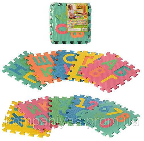 Детский игровой развивающий коврик Мозаика M 2736 (укр.алфавит)