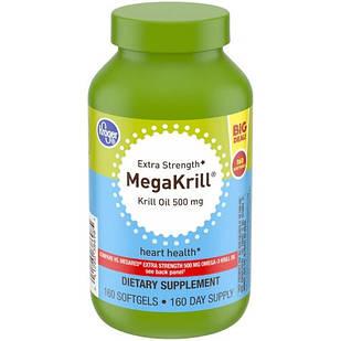 Kroger MegaKrill Extra Strength Krill Oil 500 mg. 160 softgels