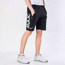 Мужские трикотажные шорты Nike, черного цвета.
