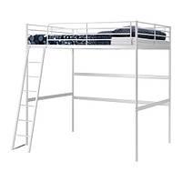 ТРОМСО Каркас кровати-чердака, белый 140x200 см