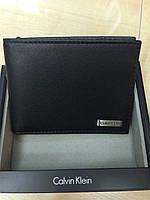 Кожаный кошелек Calvin Klein черный оригинал