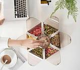 Обертова тарілка для закусок фруктів і солодкого Snack-Combination box Fruit Plate 1 ярус 7отсеков, фото 3