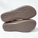 Босоніжки жіночі, сандалі натуральна шкіра ортопедична устілка на плоскій підошві на широку ногу Бежеві, фото 8
