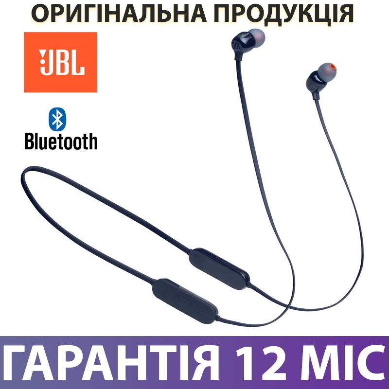 Бездротові навушники для спорту JBL T125BT Bluetooth сині, блютуз гарнітура для бігу