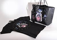 Женская сумка и футболка GIVENCHY с ротвейлером