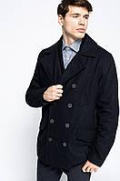 Двубортное пальто черного цвета для мальчика Jafar от !Solid (Дания) в размере XXS