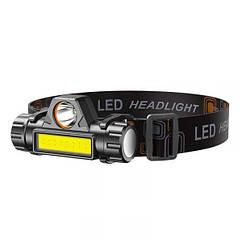 Ліхтар налобний WD142 LED, (Оригінал)