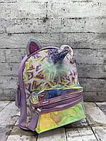 Детский рюкзак 8707 Рюкзак для девочки Единорог с ушками Сиреневый