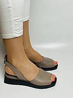 Y. FERRA. Турецькі босоніжки на низькій платформі.Натуральна шкіра Розмір 37 38 40, фото 2