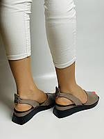 Y. FERRA. Турецькі босоніжки на низькій платформі.Натуральна шкіра Розмір 37 38 40, фото 5