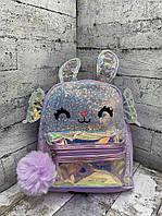 Детский рюкзак 8705 Рюкзак для девочки с крыльями Сиреневый