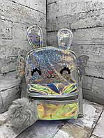 Детский рюкзак 8705 Рюкзак для девочки с крыльями Серый