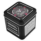 Годинники наручні QUAMER 1509-Box, двухцветн. ремінець каучук з подарунковою коробкою, фото 2