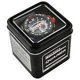 Годинники наручні QUAMER 1514-Box, браслет карбон, dual time з подарунковою коробкою, фото 2
