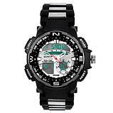 Часы наручные QUAMER 1514-Box, браслет карбон, dual time с подарочной коробкой, фото 3
