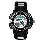Часы наручные QUAMER 1514-Box, браслет карбон, dual time с подарочной коробкой, фото 4