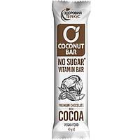 Батончик кокосовий з какао в шоколадній глазурі 40 г