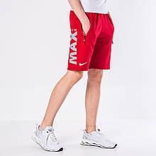 Мужские трикотажные шорты Nike, красного цвета.