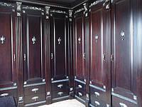 Шкаф деревянный с резьбой, фото 1