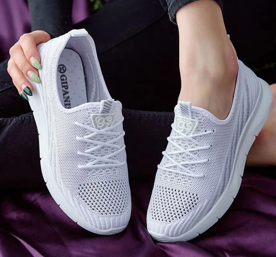 Кросівки жіночі літні білого кольору (Нс-586)