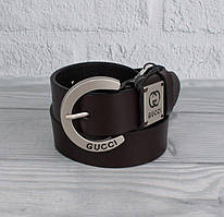 Ремень кожаный коричневый Gucci 8047-5-1
