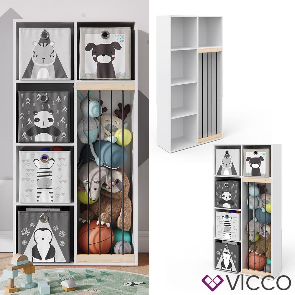 Дитячий шафа для іграшок Vicco Marvin, 72x143, білий
