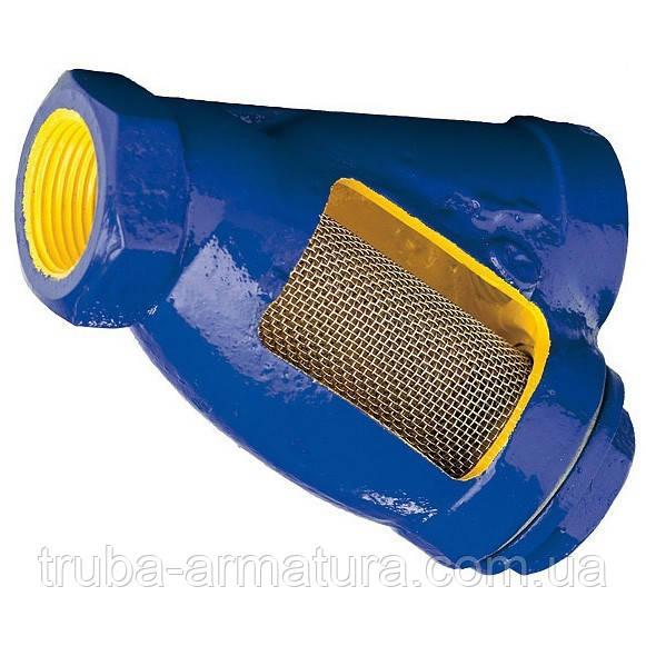 Фильтр осадочный чугунный муфтовый Zetkama 823 DN 20 PN 1,6 МПа