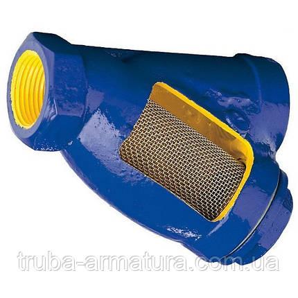 Фильтр осадочный чугунный муфтовый Zetkama 823 DN 20 PN 1,6 МПа, фото 2